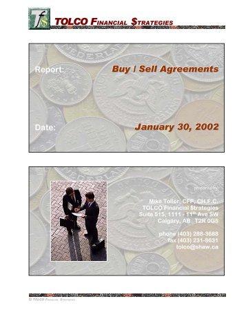 Buy / Sell Agreements - Westmountgrp.com