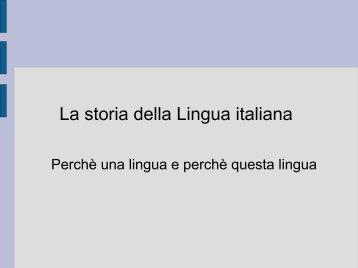 La storia della Lingua italiana - Istitutocardarelli.it