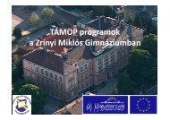 A pályázat célja, megvalósulása - Zrínyi Miklós Gimnázium - Sulinet