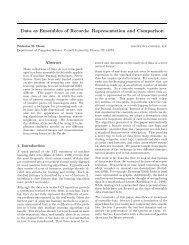 Data as Ensembles of Records: Representation and ... - CiteSeerX