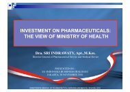 investment on pharmaceuticals: the view of ... - EIBD Conference