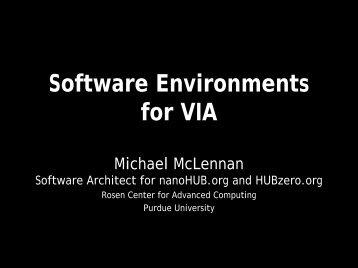 Michael McLennan, Purdue University