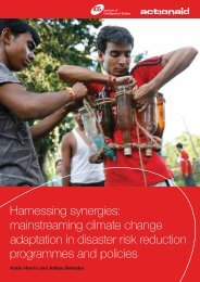 mainstreaming climate change adaptation in disaster risk ... - Eldis
