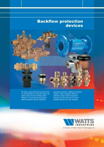 Backflow protection devices - WATTS industries
