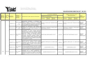 Adjudicaciones - Secretaria de Obras y Servicios