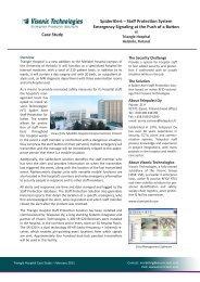 Triangle Hospital Case Study - Visonic Technologies