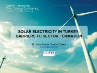 SOLAR ELECTRICITY IN TURKEY; BARRIERS TO SECTOR ...