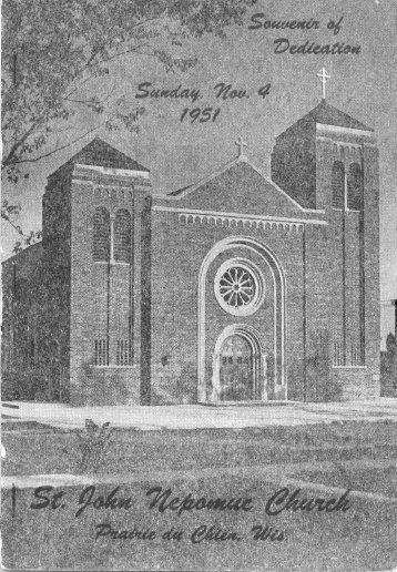 New Church Booklet 1951 - Prairie Catholic School