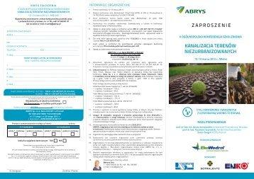 zaproszenie kanalizacja terenów niezurbanizowanych - Abrys