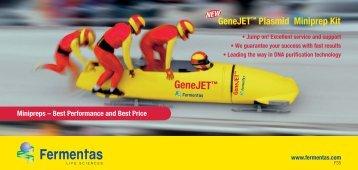 "Flyer ""GeneJET™ Plasmid Miniprep Kit"" (© 2006 ... - Biocenter"