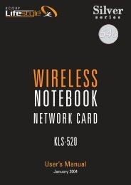 Chapter 1 About the KCORP LifeStyle Silver Notebook Card