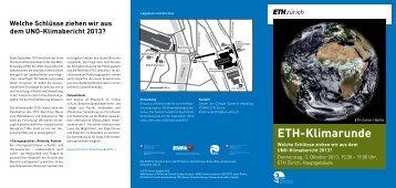 ETH-Klimarunde - C2SM - ETH Zürich