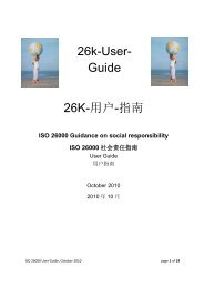 26k-User- Guide 26K-用户-指南 - ISO 26000, an estimation