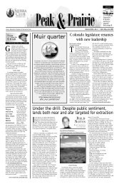 April/May/June 2005 (pdf) - Sierra Club Rocky Mountain Chapter
