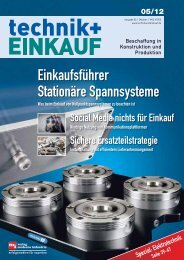 Ausgabe 5 / 2012 - technik + EINKAUF