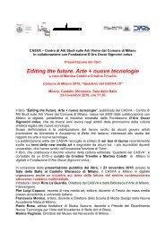 Comunicato Stampa - Comune di Milano