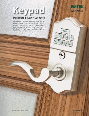 Keypad Deadbolt & Lever Locksets - Emtek