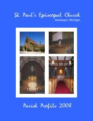 St. Paul's Episcopal Church Parish Profile 2008