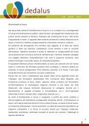 Orientamento e bilancio delle competenze - Dedalus cooperativa ...