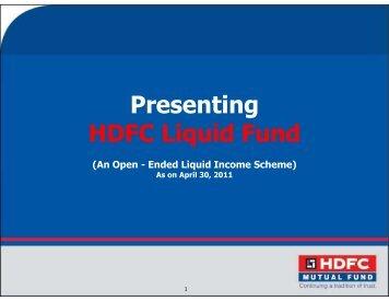 HDFC Liquid Fund - April 30, 2011 - HDFC Mutual Fund