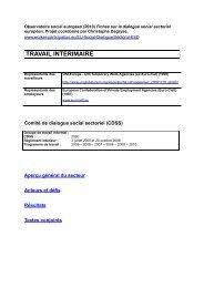 TRAVAIL INTÉRIMAIRE - WORKER PARTICIPATION.eu
