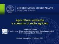 Agricoltura lombarda e consumo di suolo - Regione Lombardia