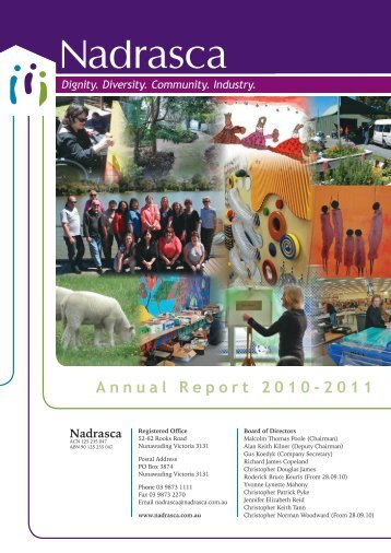 Nadrasca Annual Report 10/11 Abridged
