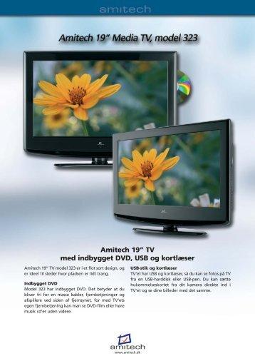 """Amitech 19"""" TV med indbygget DVD, USB og kortlæser - Lomax"""