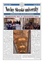 Prosinec - Slezská univerzita v Opavě