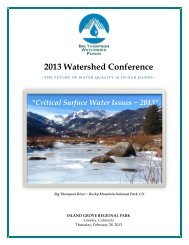 2013 Watershed Conference - Big Thompson Watershed Forum