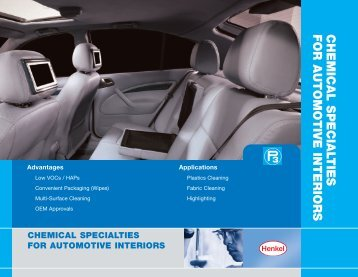 CHEMICAL SPECIALTIES FOR AUTOMOTIVE INTERIORS - Loctite.ph