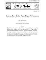 Studies of the Global Muon Trigger Performance - CERN Document ...