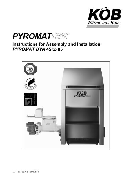 Instructions For Assembly And Installation Pyromat Viessmann
