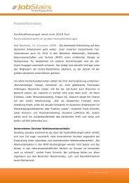 Fachkräftemangel setzt sich 2010 fort - Personalarbeit ... - JobStairs