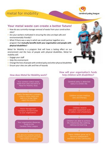 Metal for Mobility information sheet - Cerebral Palsy League