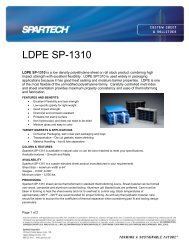 LDPE SP-1310 - Spartech Corporation