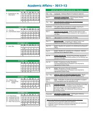 2012-2013 Academic Affairs Timelines - Shasta College
