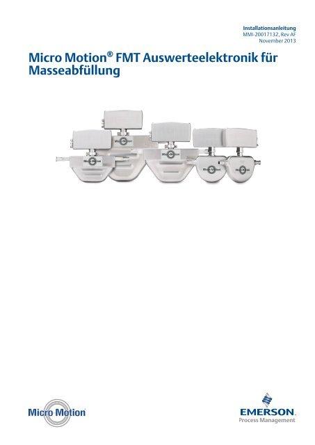 Micro Motion® FMT Auswerteelektronik für Masseabfüllung