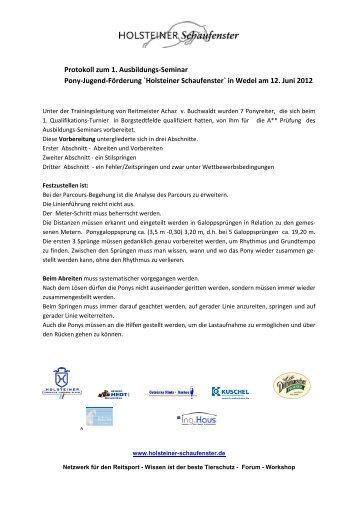 PDF Download - HOLSTEINER Schaufenster