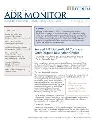 ADR MONITOR - National Arbitration Forum