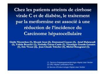 Chez les patients atteints de cirrhose virale C et un diabète, le ... - Afef