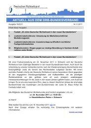 Aktuell 19/2011 - Deutscher Richterbund