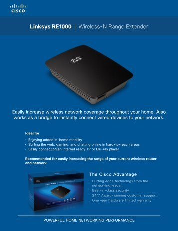 Linksys RE1000   Wireless-N Range Extender - Linksys - Cisco