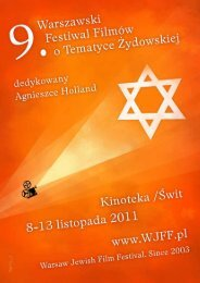 Katalog 2011 A4 pdf - Warsaw Jewish Film Festival