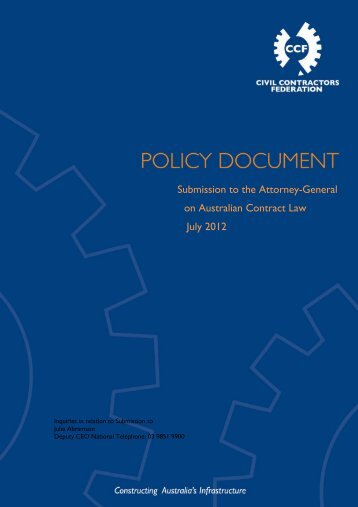 Final Submission to the Attorney-General of Contract Law Reform
