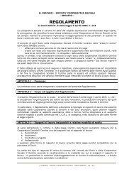 Regolamento Interno (.pdf) - Cooperativa Sociale Il Cerchio