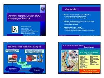 Wireless LAN an der Universität Rostock - Terena