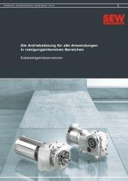 Edelstahlgetriebe (856 KB) - SEW Eurodrive