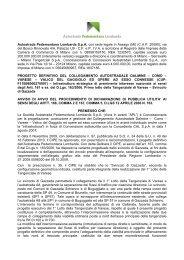 Autostrada Pedemontana Lombarda SpA con sede legale in Assago