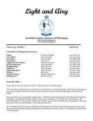 April 2013 1-column format - RSCDS Winnipeg Branch